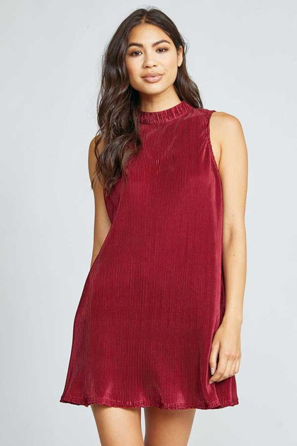 VELVET ROPE MINI DRESS - orangeshine.com