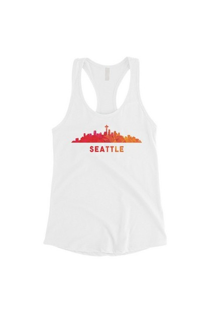 Polygon Skyline-Seattle Tank Top - orangeshine.com