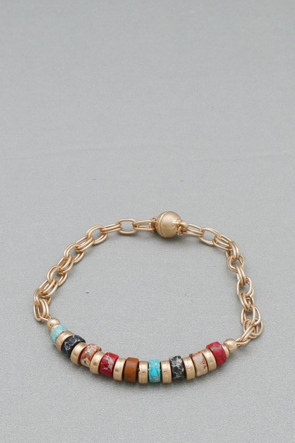 BEAD NON STRETCH BRACELET - orangeshine.com