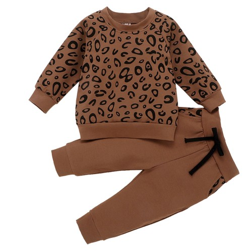 2Pc leopard print Outfit set  - orangeshine.com