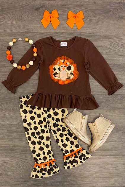 Cheetah Turkey Pant Set - orangeshine.com