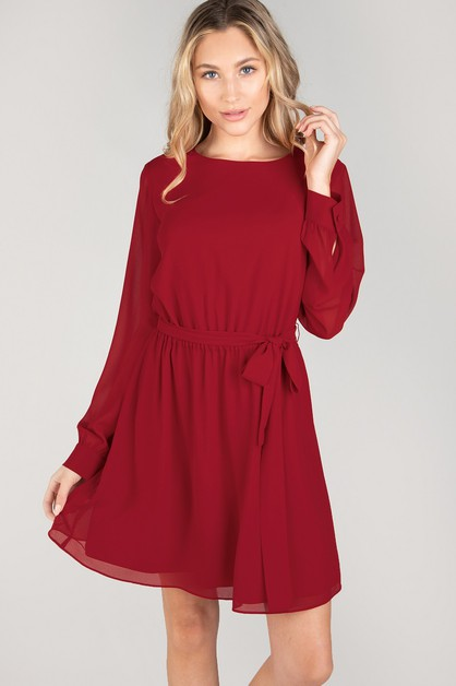 LONG SLEEVE MINI DRESS - orangeshine.com