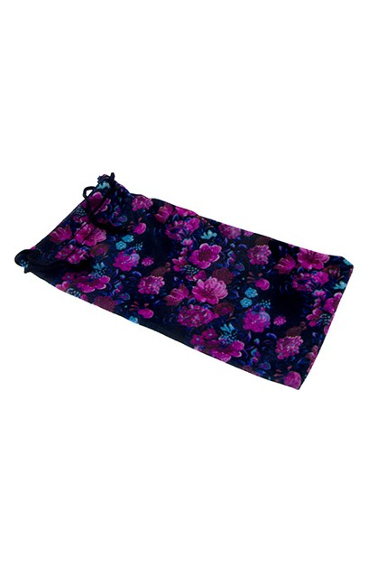 Colorful floral soft pouch case  - orangeshine.com