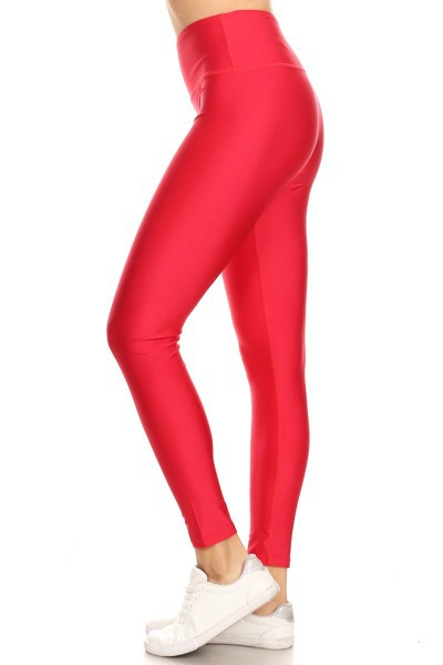 High waist shinny legging - orangeshine.com
