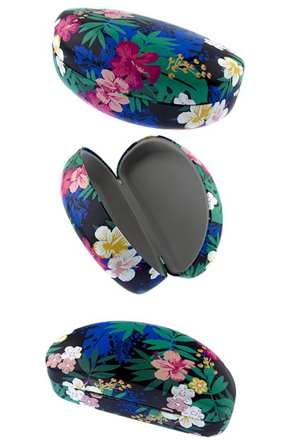 Floral fashion hard case sunglass  - orangeshine.com