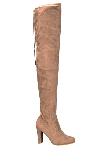 BACK LACE HIGH HEEL THIGH HIGH BOOT - orangeshine.com