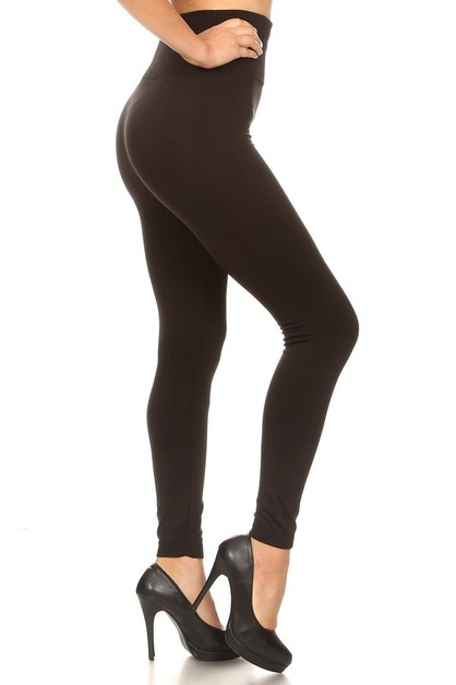Tummy Control Fleece Lined Leggings - orangeshine.com