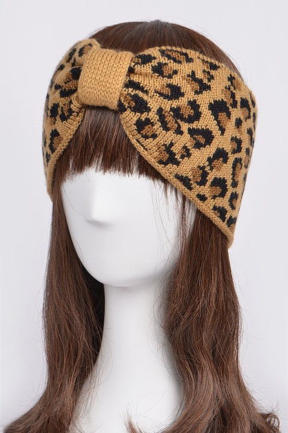 Leopard Twist Knot Head Wrap - orangeshine.com