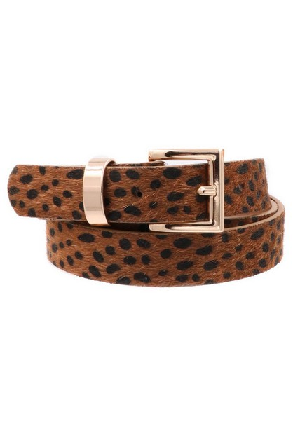 Leopard Metal Rectangle Belt - orangeshine.com