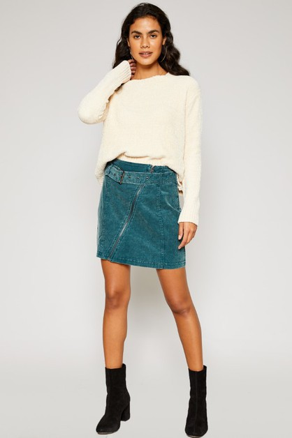 MARLEY ZIPPER MOTO MINI SKIRT - orangeshine.com