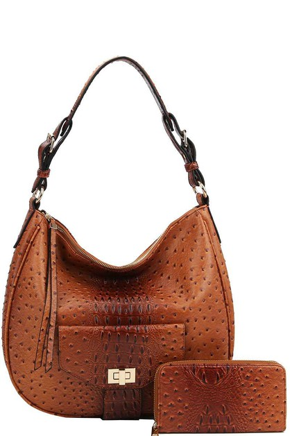 2IN1 DESIGNER CROCO HOBO BAG - orangeshine.com
