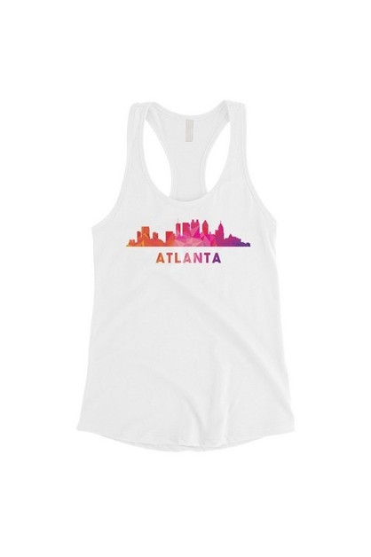 Polygon Skyline-Atlanta Tank Top - orangeshine.com