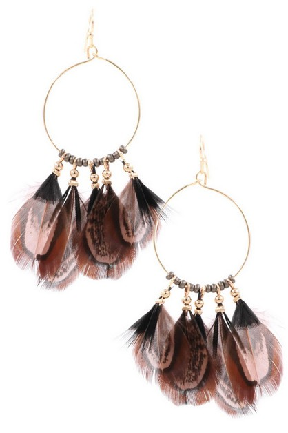 Feather Earrings - orangeshine.com