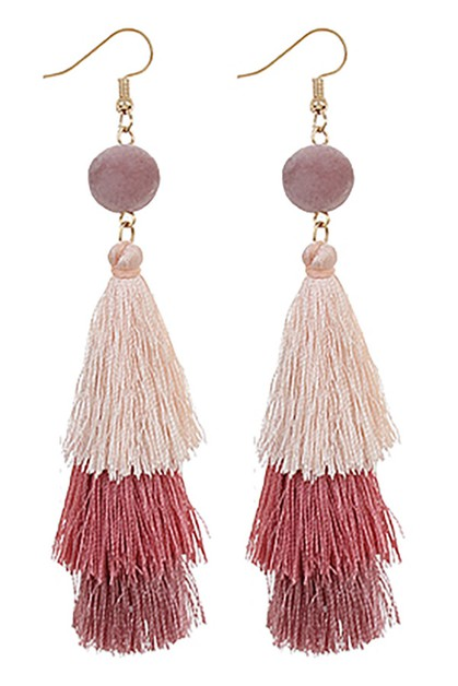Tassel Dangle Earring - orangeshine.com