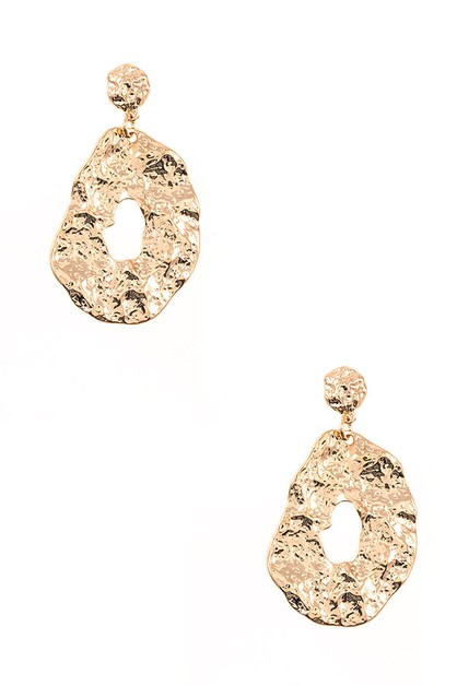 HAMMERED DROP EARRING - orangeshine.com