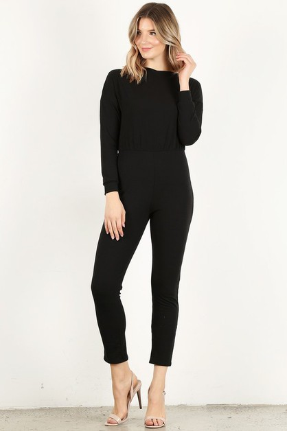 Long Sleeve Jumpsuit - orangeshine.com