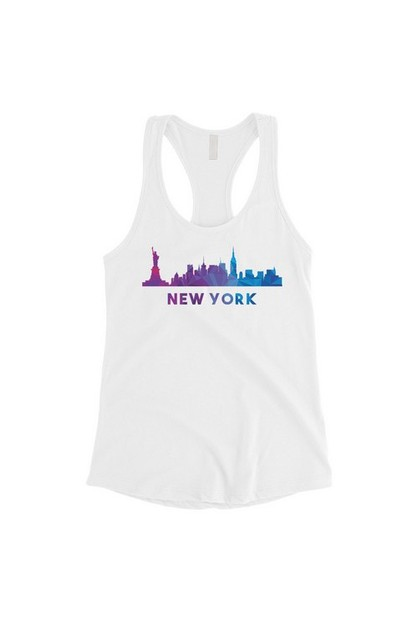 Polygon Skyline-New York Tank Top - orangeshine.com