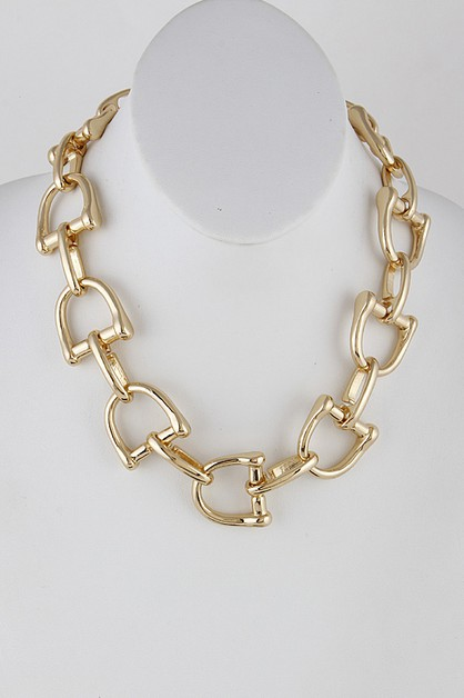 D Chainlink Necklace 9JAC8 - orangeshine.com