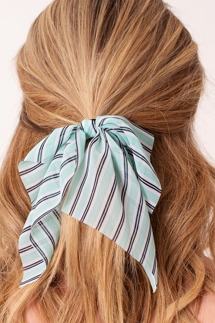 Stripe Ribbon Hair Tie - orangeshine.com