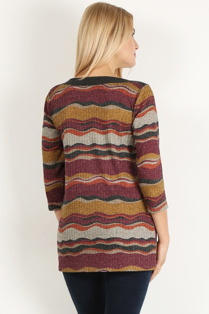 rib knit boat neck top - orangeshine.com