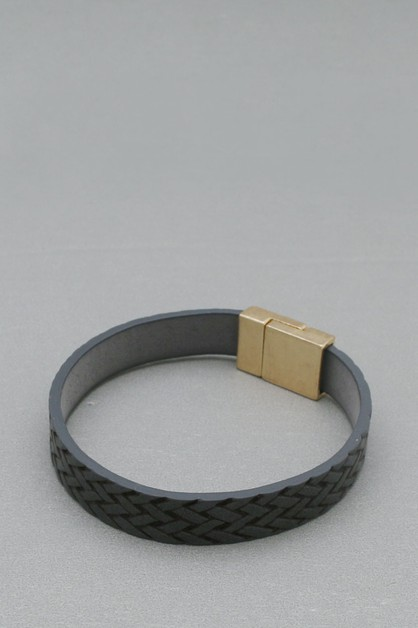 LEATHER MAGNETIC  BRACELET - orangeshine.com