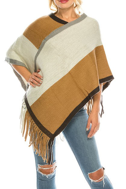 COLOR BLOCK PONCHO PACK - orangeshine.com