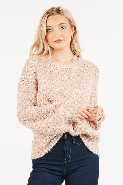 MULTI COLOR FUZZY SWEATER - orangeshine.com