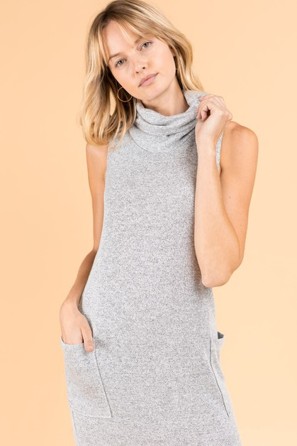 Cowl Neck Tunic Dress  - orangeshine.com