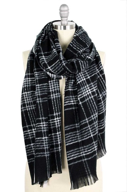 TRENDY MODERN PLAID OBLONG SCARF - orangeshine.com