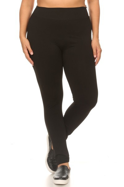 Plus Size Tummy Control Slim Legging - orangeshine.com