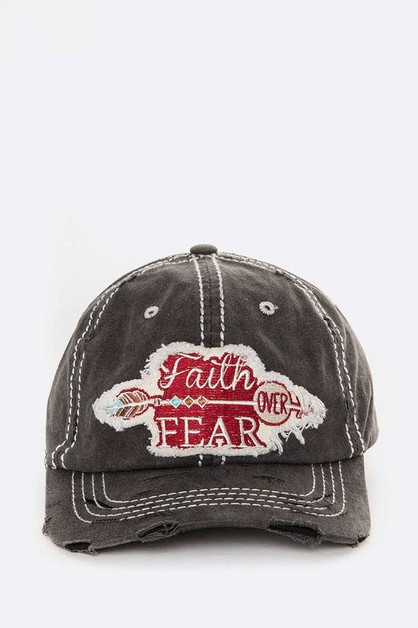 Faith Over Fear Iconic Cotton Cap - orangeshine.com