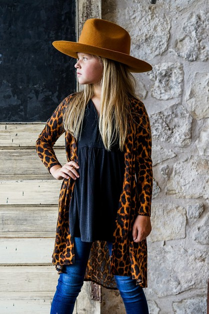 KIDS PRINTED LONG SLEEVE KIMONO - orangeshine.com