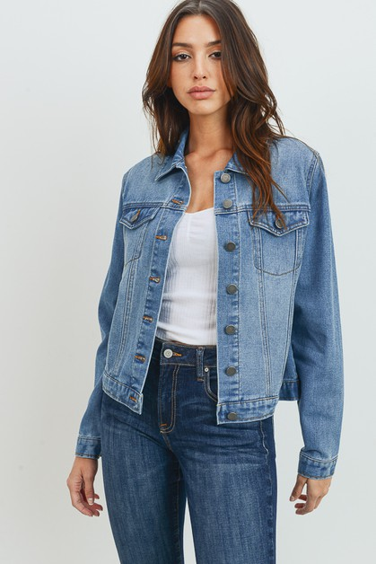 Basic Denim Jacket - orangeshine.com