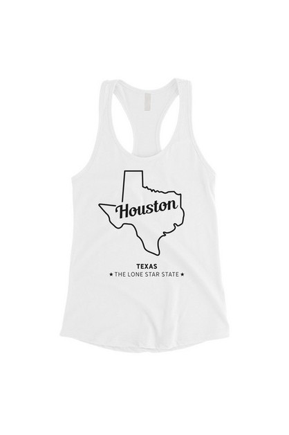 Map-Houston Tank Top - orangeshine.com