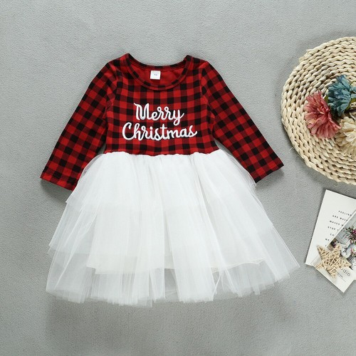 Christmas Plaid tutu dress - orangeshine.com