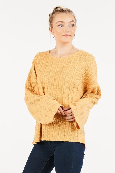 SOLID OVER SIZED SLEEVE HOLE TOP - orangeshine.com