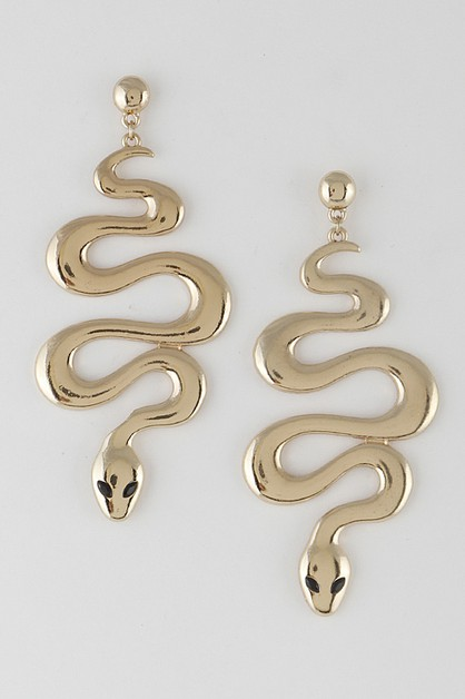 Snake Drop Earrings 9JBA9 - orangeshine.com