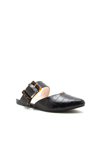 WOMEN`S Metal buckle Mules - orangeshine.com