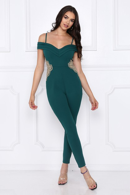 MADE YOU LOOK OF SHOULDER JUMPSUIT  - orangeshine.com