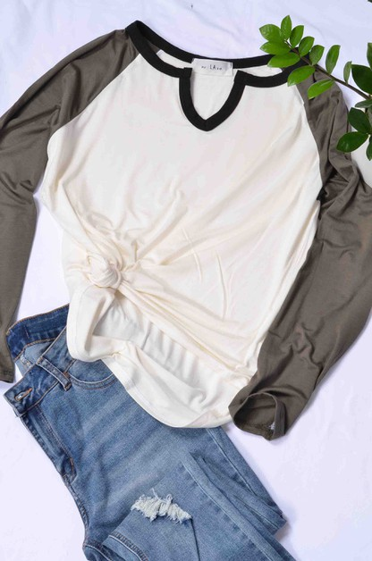 RAGLAN HEAVY RAYON TOP - orangeshine.com