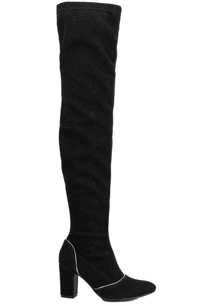 SEQUIN knee high boots - orangeshine.com