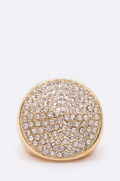 Crystal Iconic Circle Stretch Ring - orangeshine.com