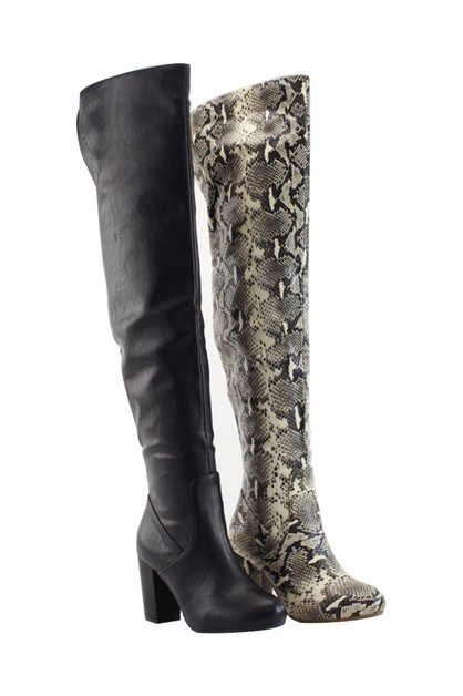 KNEE HIGH LONG BOOTS - orangeshine.com