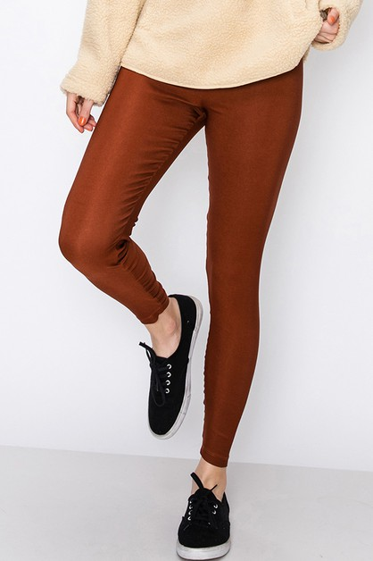 HIGH WAISTED LEGGING WITH GATHERED B - orangeshine.com