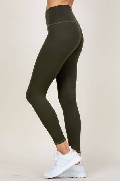 SOLID ANKLE LENGTH LEGGINGS - orangeshine.com