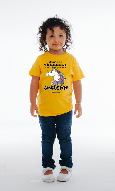 Unicorn Graphic Tee - orangeshine.com