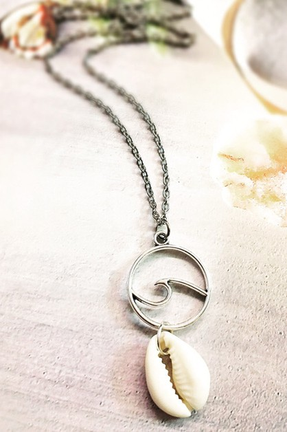 Shell wave necklace  - orangeshine.com