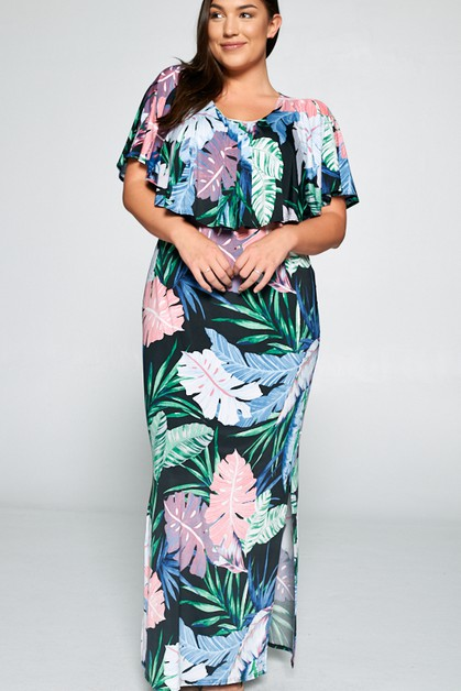 New tropical off shoulder maxi - orangeshine.com