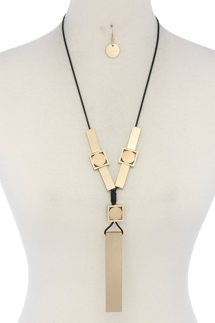 MODERN GEOMETRIC SHAPE NECKLACE - orangeshine.com