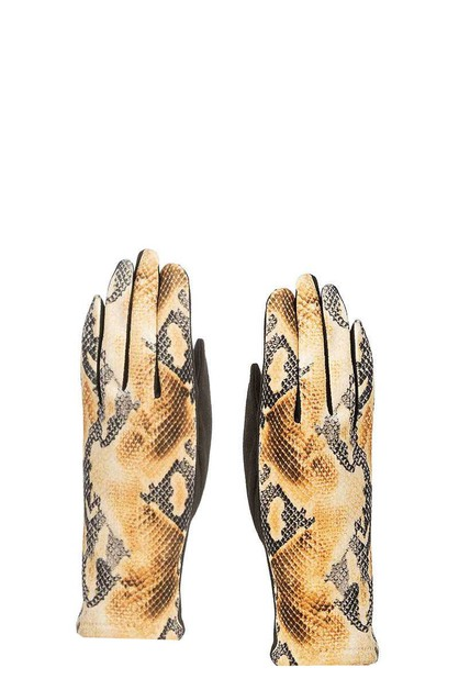 PYTON PRINT GLOVES - orangeshine.com